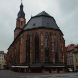 The Heiliggeistkirche at Heidelberg old town