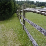 A wooden yard fence