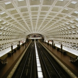 Washington DC subway at the Smithsonian station