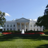 The White House and its front yard