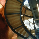 The spiral staircase at the Finnish Embassy
