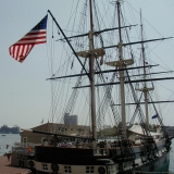 The USS Constellation at the Baltimore Inner harbor