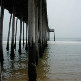 A pier at the shore of the Atlantic