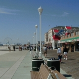 The Boardwalk and the beach