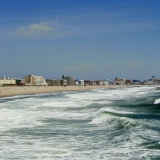 The shoreline of the Atlantic at Ocean City