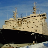 Ice breakers at the Katajanokka port