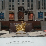 The Rockefeller Center plaza and the Prometheus statue
