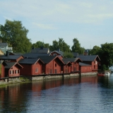 The shore of the river Porvoo