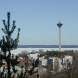A view from Pispalanharju to Särkänniemi