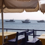 Boats in the Red Sea