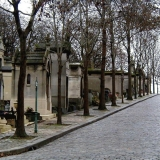 View at the Pere Lachaise cemetery