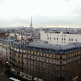 A view in direction of the Eiffel tower from the roof of Au Printemps department store