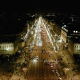 The Champs Elysées from the Arc of Triomphe