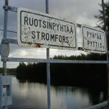 The municipality border at the Savukoski bridge