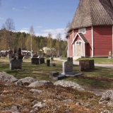 The Övertorneå church and cemetery