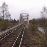 A railroad bridge with double tracks