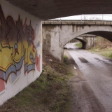 Three underpasses and a graffiti