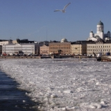 Ice covers the South port