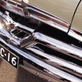A Pontiac's front bumper