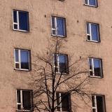 Sörnäisten Rantatie 4:n ikkunoita
