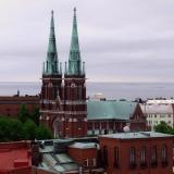 Johanneksen kirkko nähtynä Erottajan paloaseman tornista