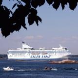 Silja Line's ferry at Kruunuvuorenselkä