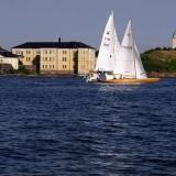 Sail boats passing Suomenlinna