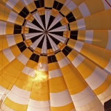 A hot air balloon from the inside