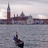 A gondola and Lido island