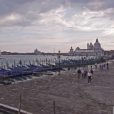 The shore at Venice, Santa Maria della Salute church in the background