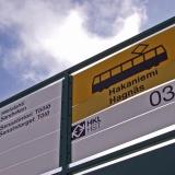 A tram stop at Hakaniemi