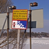 Beware of thin ice and waterways