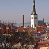 View from the Old town to St. Olav's church