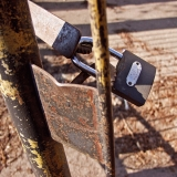 A lock in a gate