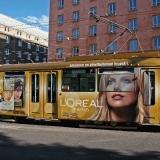 A GT8 tram at Helsinginkatu