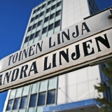 A street sign at Toinen linja