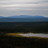 Old Salla nordic mountains seen from Pieni Pyhätunturi