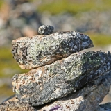 Stones atop a nordic mountain