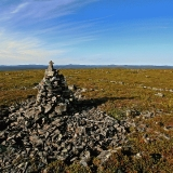 Stone pile atop Kuskoiva