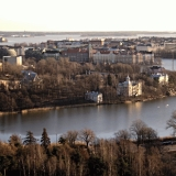 Töölönlahti bay, Linnunlaulu and Hakaniemi seen from the Stadium tower