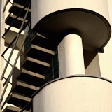 Detail on the Olympic stadium tower staircase
