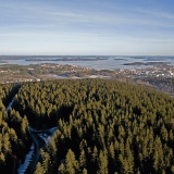 Puijo hill, city of Kuopio and lake Kallavesi