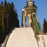 Kuopio ski jump towers and Puijo tower