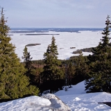 Finnish national scenery: lake Pielinen seen from Koli