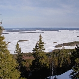 A Finnish national scenery: lake Pielinen seen from Ukko-Koli