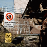 Warning signs at Korkeakoski power plant