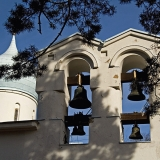 Bells at the orthodox cemetery chapel