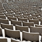 Seats at the olympic stadium