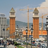 A street view from Plaça d'Espanya