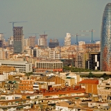 Roofs of Barcelona and Torre Agbar